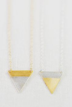 Alepo'i necklace gold triangle necklace gold
