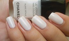 White nails for summer. Super clean.