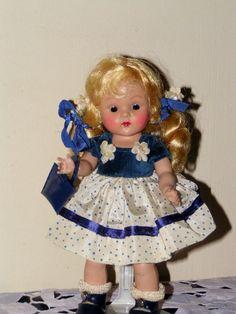 "VOGUE 8"" Strung Ginny 1951 NAN #32 Kindergarten Kiddies Series, Beautiful Blonde #HARDPLASTIC8GINNYDOLL"