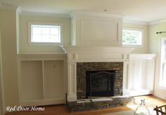 built in around fireplace | Built In Cabinets - The Details