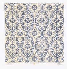 Anna Griffin - Fleur Rouge Collection - 12 x 12 Flocked Paper - Blue Damask at Scrapbook.com $1.99