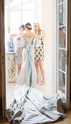 A little wedding inspiration ... Caroline Sieber in a beautiful custom made Chanel wedding dress ..