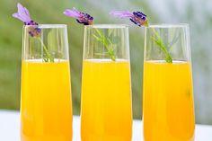 Lavender Bellini Cocktail Recipe. Food and beverage wedding ideas.