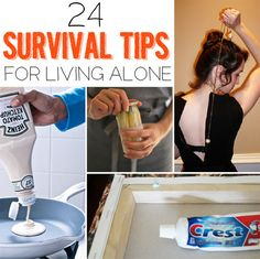 24 Survival Tips For Living Alone ~ These obviously can be applied to those who don't live alone as well, there are some really useful tips.