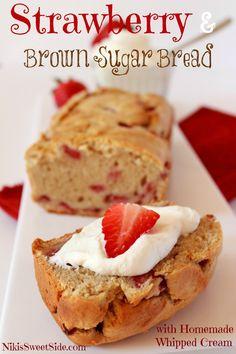 brown sugar, food, bake, strawberries, breads, niki sweet, recip, dessert, sugar bread