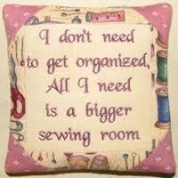 Bigger sewing room or just take over another room of the house?