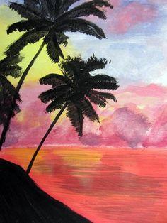 As another pinner said - Cedar Creek Elementary Grade 6 Sunset artwork - is a -maze - ing!