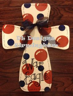 Auburn Cross War Eagle door hanger or wall by DLDesignsBirmingham