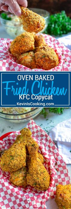 My Oven Fried Chicken is a KFC Copycat that is BAKED not fried, and has fantastic flavor that is spot on with crunch. Same flavor without all the grease!