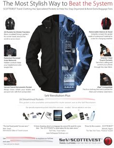 airport secur, twitter, scottevest, sky, travel cloth, airports, revolutions, jackets, magazines