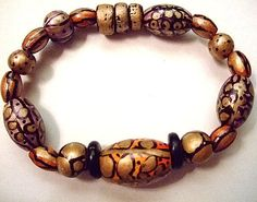 """HandPainted Wooden Bracelet Size 6.5-7 """" Gift for Her by MereTrinkets, $10.00"""