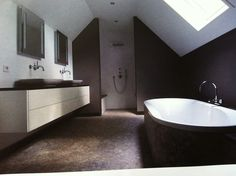 Badkamers on pinterest toilets wands and bathroom - Badkamer zolder ...