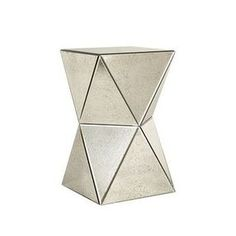 West Elm Faceted Foxed Mirror Side Table