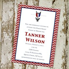 eagle scout court of honor invitation or graduation announcement with photos, digital, printable file (item 603).