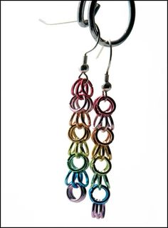 Rainbow dangle earrings tutorial