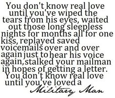 The amazing overwhelming love only a military wife can feel. Such a special kind of love ♥