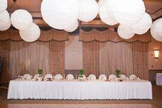 Eldorado Country Club - Bridal Party Headtable  www.eldoradocc.com parti headtabl, bridal parties