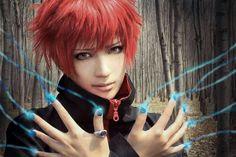 sasori red, cosplay wig, aries, sasori cosplay, wigs, naruto shippuden cosplay, cherries, naruto cosplay, naruto sasori