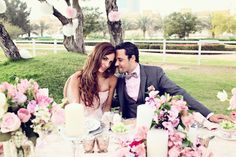 Glamourous Pink & Gold Wedding Inspiration Shoot in Dubai