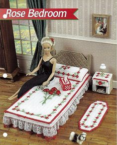 plastic canvas patterns free doll furniture | Rose Bedroom: Barbie Furniture Plastic Canvas Pattern