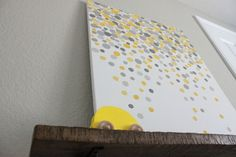 The Sweet Survival: DIY Gallery Art for Carson's Nursery, yellow grey