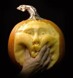 The art of Pumpkin carving #halloween #decor