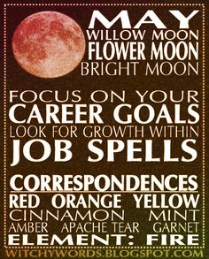 Witchy Words: May: Flower Moon
