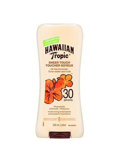 7 sunscreens that can double as your signature summer scent: Hawaiian Tropic Sheer Touch Ultra Radiance Lotion Sunscreen SPF 30 leaves your skin feeling softer post-application