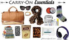 travel carry-on essentials _ glitterandpearls.com