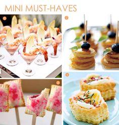 Mini wedding food #Miniature #Mini #Wedding #Tarts #Pies #Pie #Pancakes #Pancake #Stacks #Puff #Pastry #Food #Snacks #Appetizers #Hors #Dourves