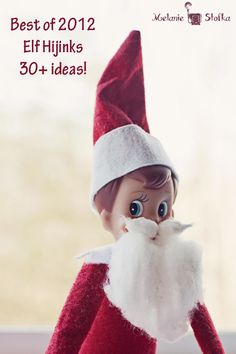 Use a cotton ball to make a Santa Beard 30+ of the best Elf on the Shelf ideas from 2012!