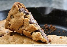 Skillet Cookie by ezrapoundcake: Mmmm! #Skillet_Cookie #ezrapoundcake