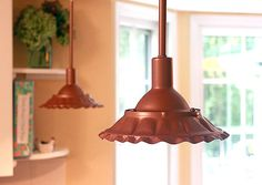 Color ugly modern lights copper for a friendly farmhouse effect.