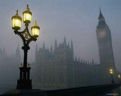 Fog at Dusk, London,England