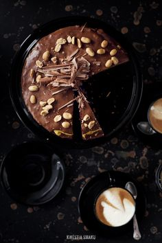 Milk Chocolate Cake with Vanilla Cream