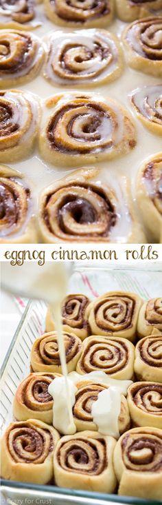 Eggnog Cinnamon Roll
