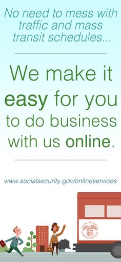 There's no need to mess with traffic or mass transit schedules.  We make it easy for you to do business with us online.