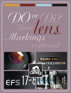 DO or Di? All your lens markings explained