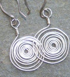 ON SALE Sterling Silver swirl earrings by debsdesigns401 on Etsy, $19.00