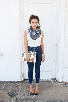 Our transition-season staple: a lightweight cotton infinity scarf with a cool, desert-inspired motif. #etsy #etsyfashion