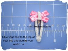How To Make Boutique Hair Bow--6--Ribbon Wrapped Snap Clips