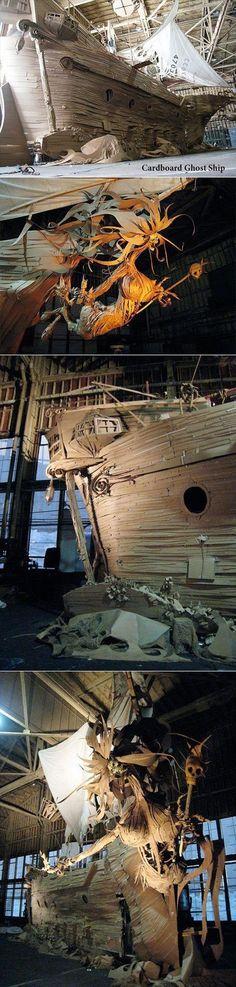 Cardboard Ghost Ship.... INCREDIBLE!