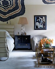 kelly wearstler's guest bedroom