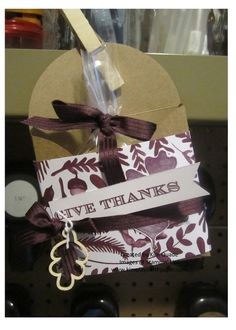 Stampin Up gift card enclosure