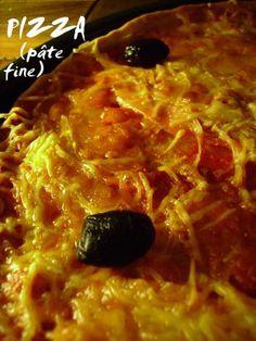 J'en reprendrai bien un bout...: Pizza pâte fine
