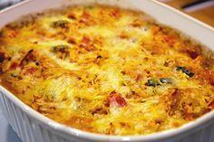GreenLite Recipe: Cheesy Veggie Spaghetti Squash Bake (photo by fitsugar.com)