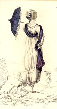 Regency era beachwear