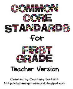 common core standards resource; for teachers and students!