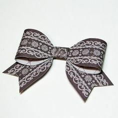 How to make a bow out of paper!! :)