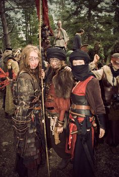 not sure which larp this is from but brilliant costumes!